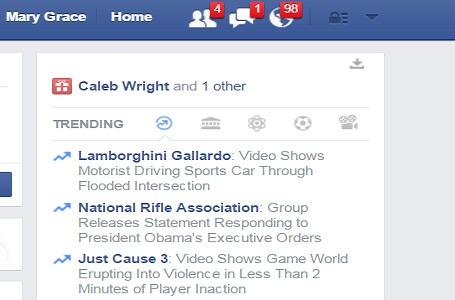 Facebook Trending Widget