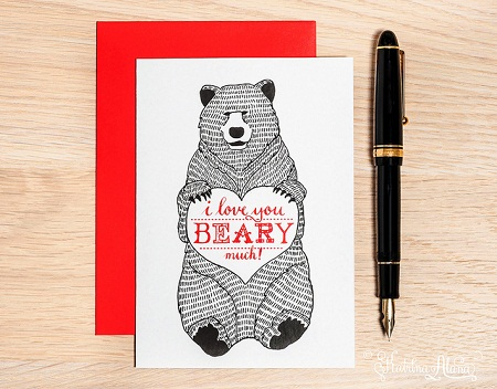 valentines day card bear