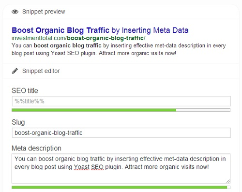 boost organic blog traffic rich snippet