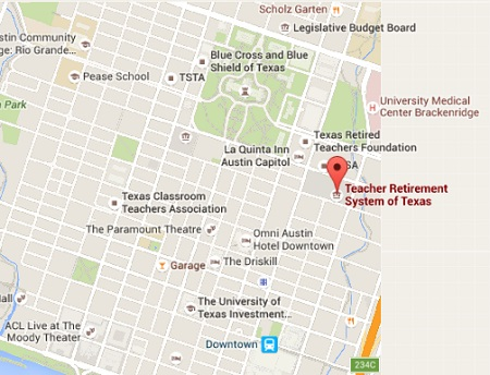 teacher retirement system of texas street directory
