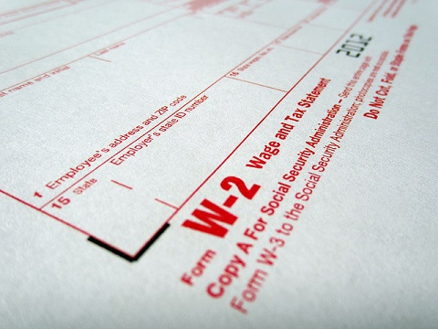 w-2 Form attached in income verification letter
