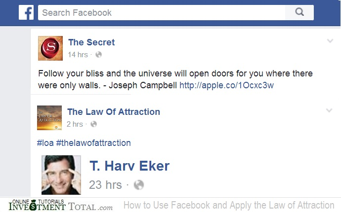 How to Use Facebook and Apply the Law of Attraction