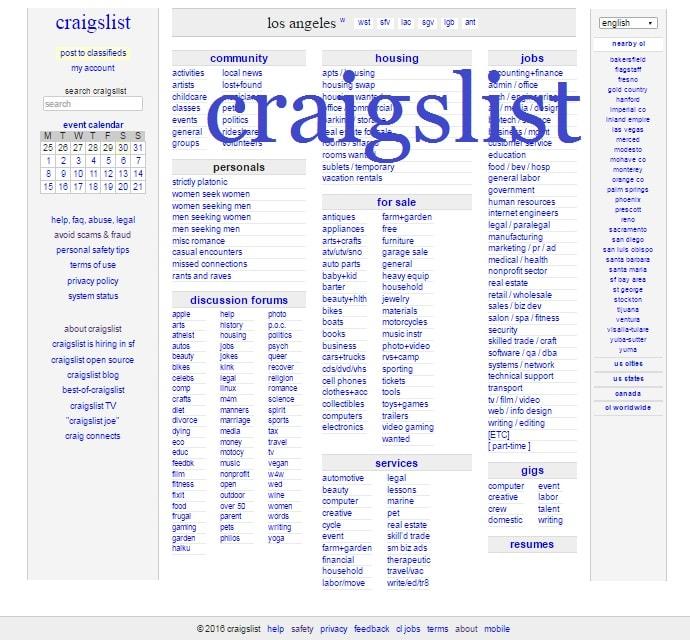 Craigslist los angeles personals