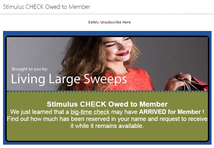 Living Large Sweeps Stimulus Check Owed to Member-min