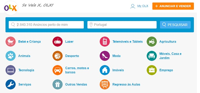 OLX Portugal Categories