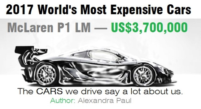 expensive cars with price. car trivia: world\u0027s most expensive 2017 (see the price and model) cars with