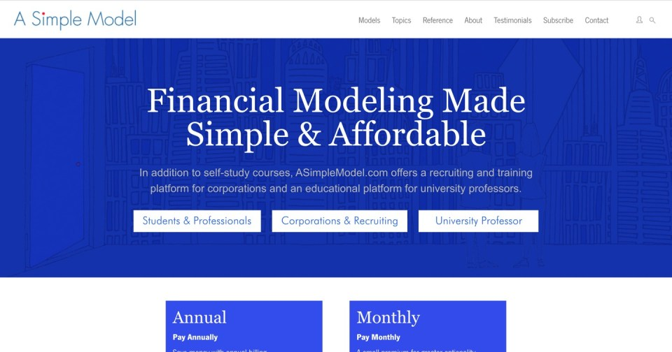 ASimpleModel.com homepage - Financial Modeling Software for CRE Syndicators