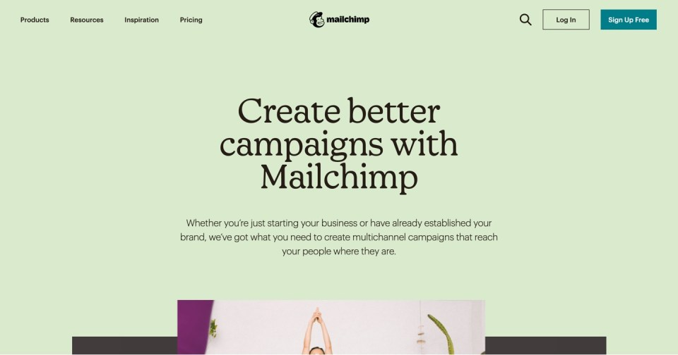 Mailchimp homepage - email marketing for real estate syndicators