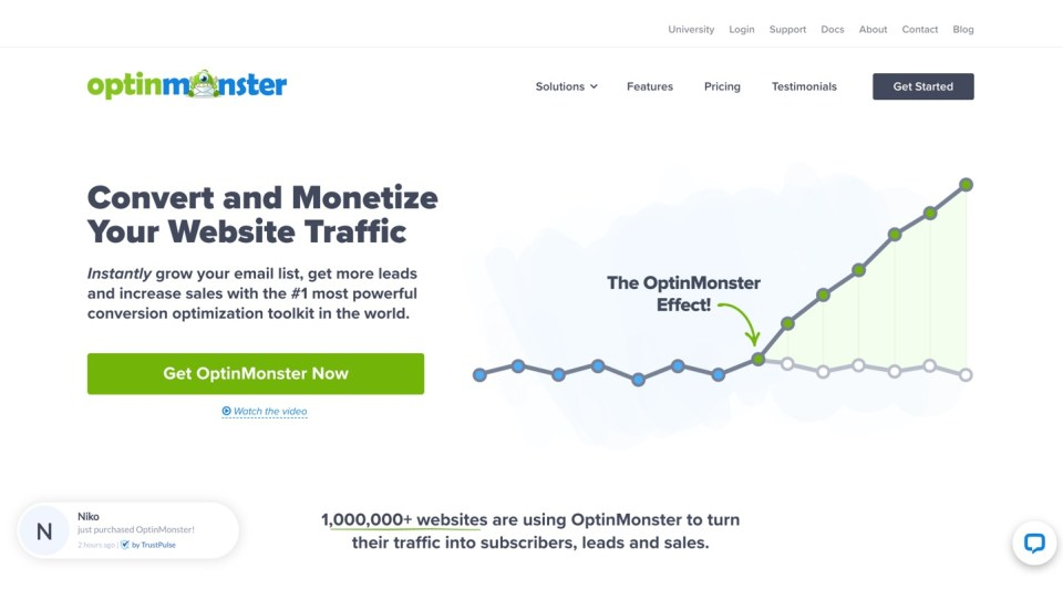 Optinmonster screenshot - lead gen tool for real estate syndicators