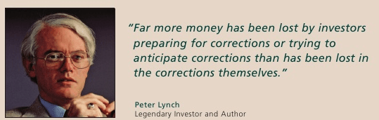 peter lynch on market correction