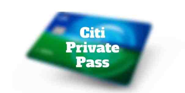 citi private pass
