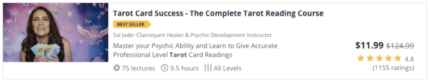 udemy course tarot card success