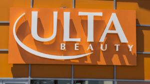 Logo Orange Ulta Beauty (ULTA) vo výklade
