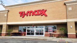 Vonkajší záber na obchod TJ Maxx (TJX) v Romeoville v štáte Illinois.