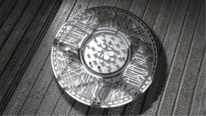 a 3d rendering of the Cardano Coin (ADA) cryptocurrency