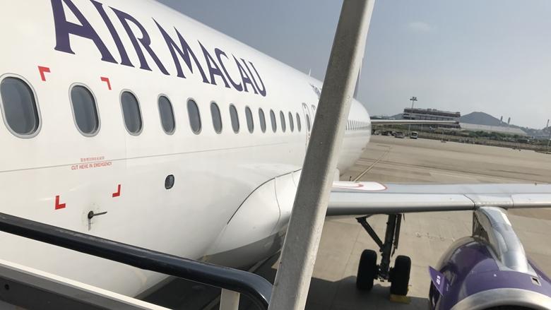 マカオ航空AirMacau飛行機で帰国