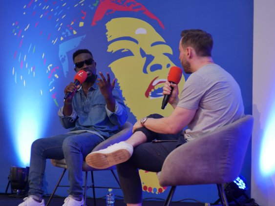 Sarkodie speaks at ACCES by Music In Africa