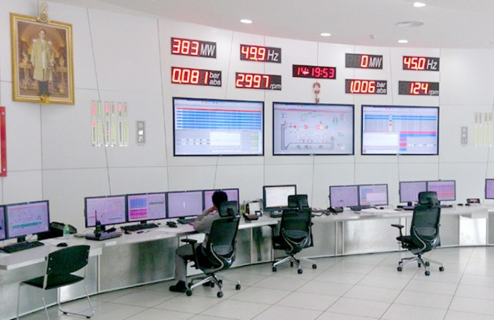The Chana Power Plant's modern control room. Photo: Arno Maierbrugger