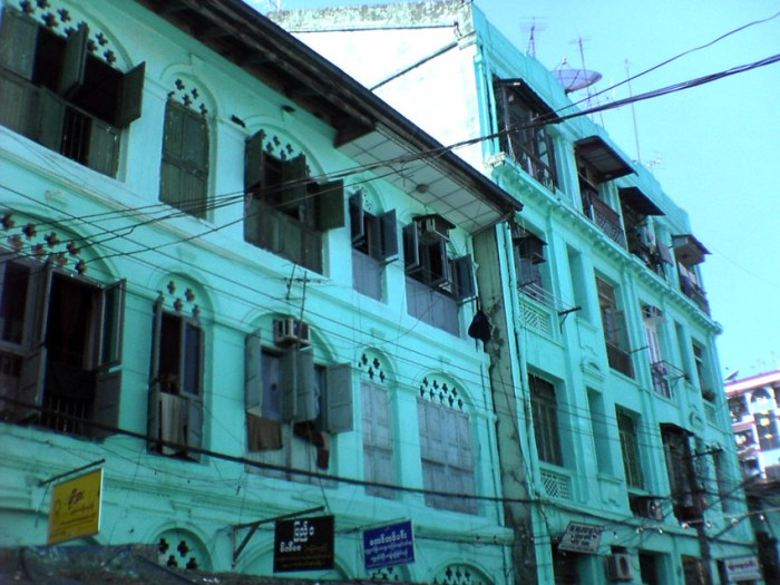 Yangon's rents are cooling off, but expats without a big housing benefits package from their company are still forced to look for accommodation in older buildings most of which are in a decrepit condition. Picture: Arno Maierbrugger