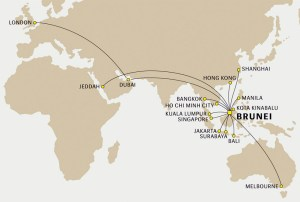 Royal Brunei route map