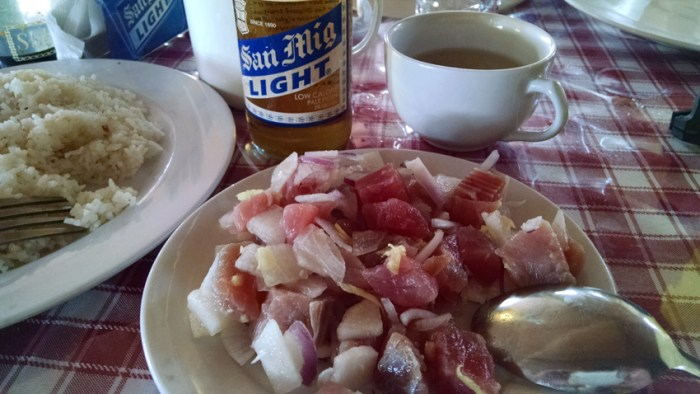 A plate of fresh tuna kinilaw at Luz's Place