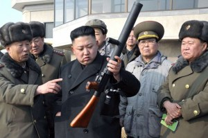 Kim with grenade launcher