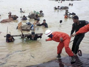 Myanmar floods people