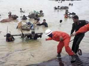 Myanmar floods people