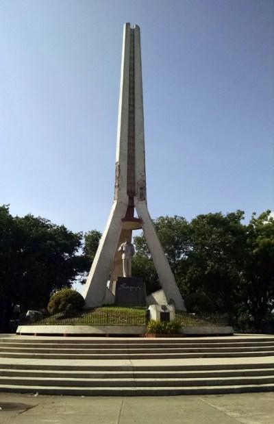 The memorial monument at Magsaysay Park