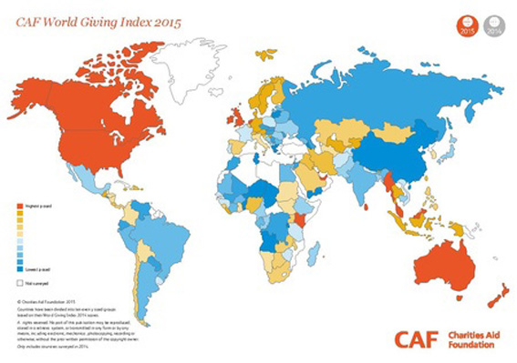 The world's most charitable nation: Myanmar!