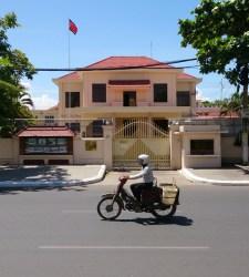 The impressive North Korean embassy in Phnom Penh © Arno Maierbrugger