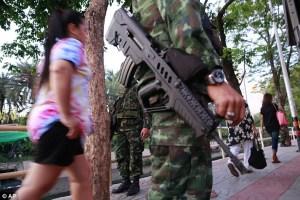 Thai army patrol