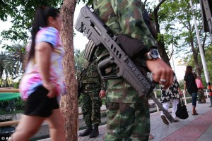 Thai army patrol