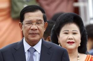 Hun Sen and Bun Rany