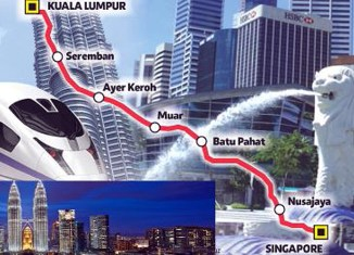 Kuala Lumpur-Singapore high-speed train project kicked off