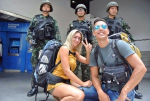 Thailand soldier and tourists