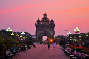 Vientiane at dusk