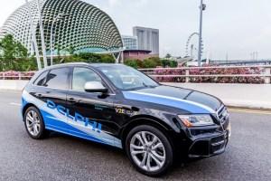 Delphi self-driving taxi