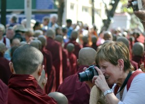 Tourists in Myanmar