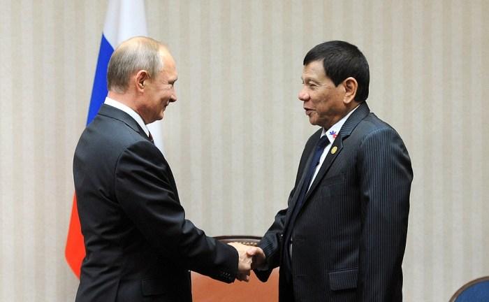 Duterte meeting his self confessed idol Putin