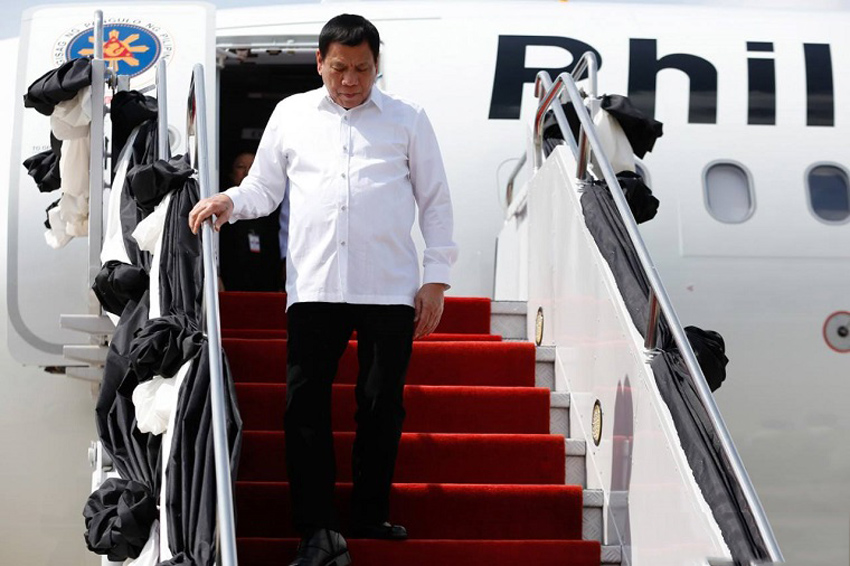 Duterte on first presidential visit to Thailand