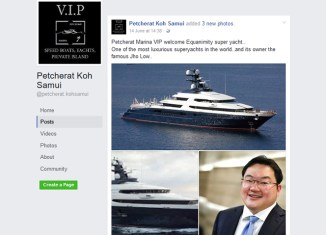"Wanted 1MDB-financed super yacht ""welcomed"" in Koh Samui"