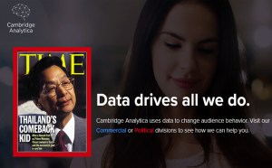 Data analytics influenced past election campaign in Thailand