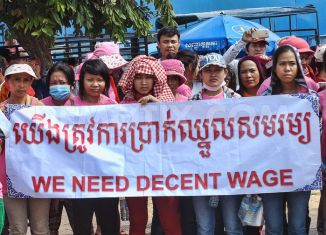Cambodia's garment workers march again for higher wages
