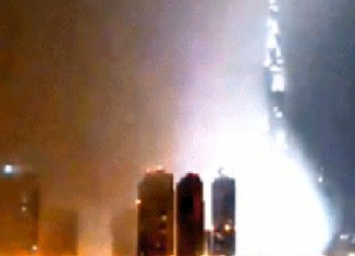Burj Khalifa disappears (video)