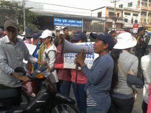 Cambodia garment workers protest