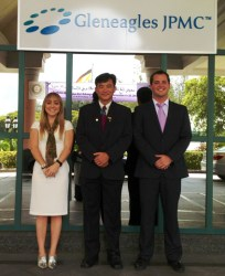 Dr Peter Tay, CEO Gleneagles JPMC Brunei with Sara and Chase Inside Investor