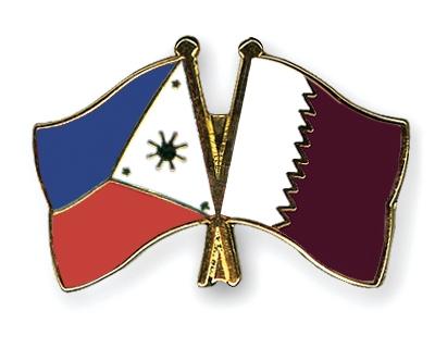 Flag Pins Philippines Qatar