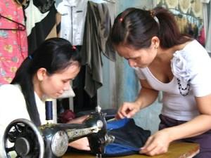 Laos sewing