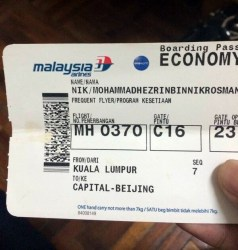 MH370 ticket